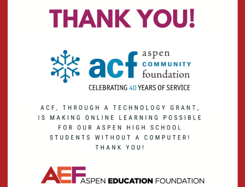 Thank you Aspen Community Foundation